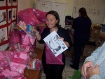 Suzie getting gifts ready