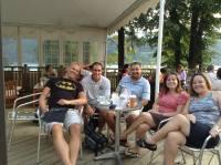 Having lunch with Matt & Dianna Kottman (CC Leatherhead, U.K.), Ted Allen (CC Switzerland)