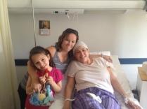 Visiting during Celeste's Chemo treatment