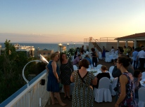 Nothing like a rooftop reception overlooking the sea!