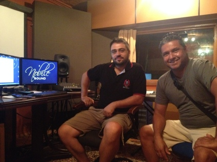 At Noble Sound Studios with Giorgos