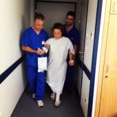 Suzie's first post-op walk