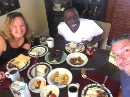 Breakfast with our friend Terry