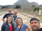Showing them around Ancient Corinth.