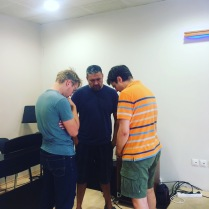 Praying before church history seminar