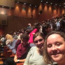 Suzie took a couple of the student girls to a theater performance in downtown Athens...