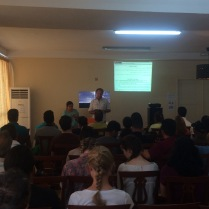 Patrick (pastor of CC in Bratislava)Teaching at our church on the Sunday he visited.