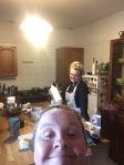 Suzie & Margie baking for the Christmas tea...