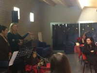 Margie teaching at the CC Padova ladies Christmas tea...