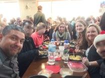 Christmas dinner with the church...