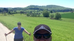 Walking and enjoying the beautiful country side on Kandern/Lorrach..