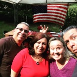 Celebrating the 4th of July with the Cornels from Herborn, Germany!