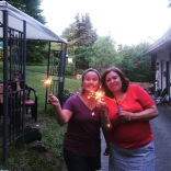 We had sparklers for the 4th of July!