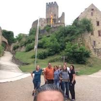 Cass family and us at our local castle in Lorrach!
