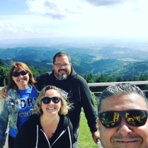 Us & Jeff & Karin on our area's highest mountain tops!