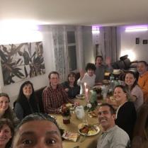 Thanksgiving at the Allen's home in Switzerland