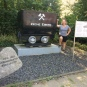 Suzie at the place in Germany where her grandfather was born and her great grandfather worked.