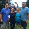 Us & Salvatos...oh and Craig Quam photo bombing!