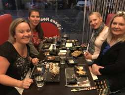 Sushi with friends in Holland