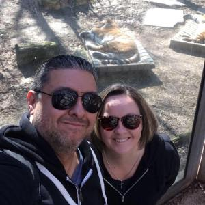Suzie & I spending time together at a local zoo.
