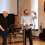 Chriss Kleinloh (CC Heidelberg) teaching.